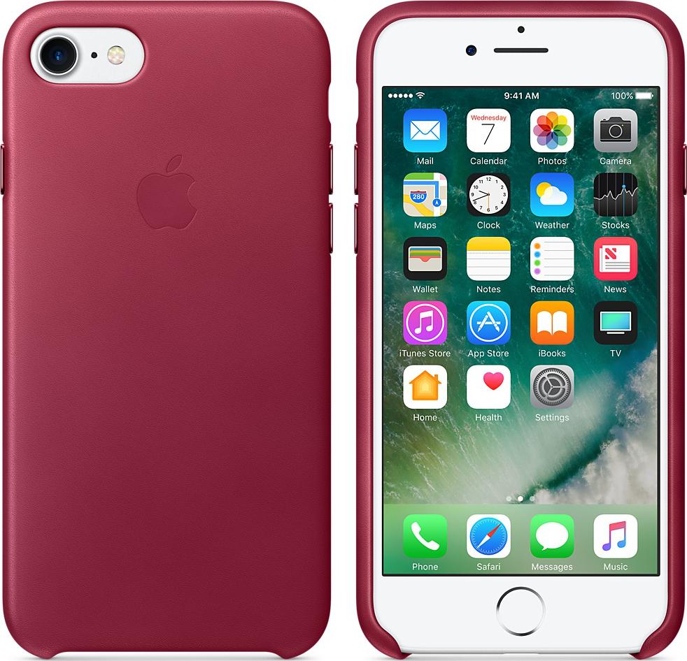 apple iphone 7 leder case rotwein g nstig kaufen. Black Bedroom Furniture Sets. Home Design Ideas