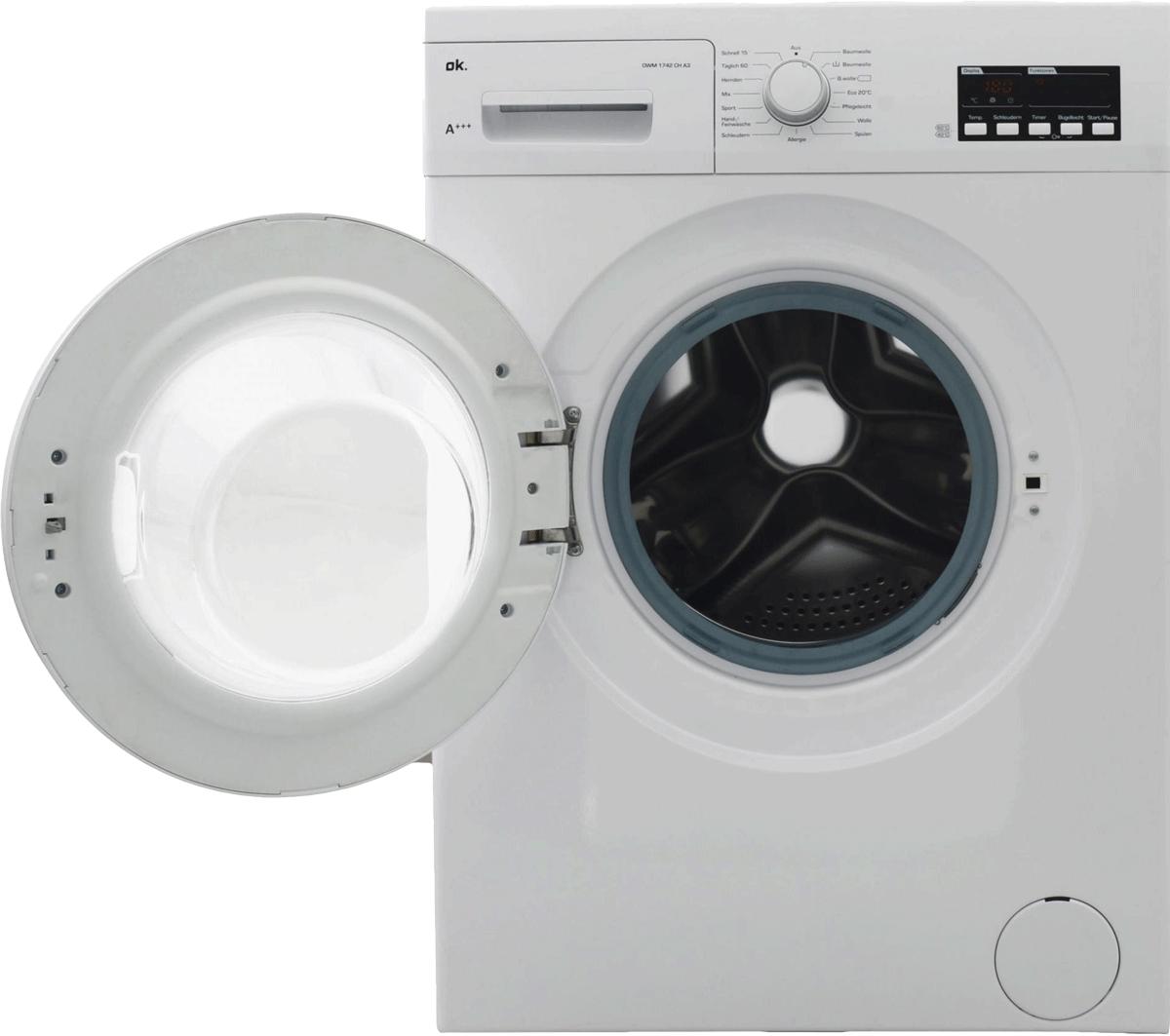 ok owm 1742 ch a3 waschmaschine frontlader energieeffizienzklasse a weiss g nstig. Black Bedroom Furniture Sets. Home Design Ideas