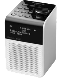 panasonic rf d20bteg w digitalradio bluetooth. Black Bedroom Furniture Sets. Home Design Ideas