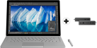 Microsoft Surface Book - Convertibile - Disco fisso SSD 1 To - Argento + Microsoft Surface Dock