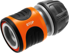 GARDENA Original System - Raccord d'arrosage Aquastop - 13 mm (1/2'') et 15 mm (5/8) - Noir/Orange
