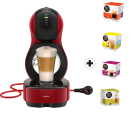 Krups Dolce Gusto Lumio - Système capsules - Pression : 15 bars - Rouge + 4 paquets