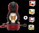 Krups Dolce Gusto Lumio - Macchina da caffè a capsule - Pressione pompa 15 bar - Rosso + 4 confezioni