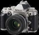 Nikon DF + AF-S 50 mm, silber