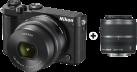 Nikon 1 J5, 10-30mm+30-110mm, 20.8MP, Noir