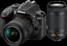 Nikon D3400 + AF-P DX 18-55 mm VR und 70-300 mm - Spiegelreflexkamera - 24.2 MP - Schwarz