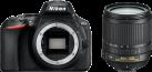 Nikon D5600 + AF-S DX NIKKOR 18–105 MM 1:3,5–5,6G ED VR - Spiegelreflexkamera - 24.2 MP - schwarz