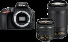 Nikon D5600 + 18–55 MM + 70-300 MM - Spiegelreflexkamera - 24.2 MP - schwarz