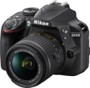 Nikon D3400 - Fotocamera reflex (DSLR) - Con obiettivo (AF-P DX 18-55 mm VR) - 24.2 MP - Nero
