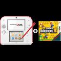 Nintendo 2DS - Handheld-Spielkonsole - DE/FR - Weiss/Rot + New Super Mario Bros. 2