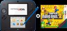 Nintendo 2DS, schwarz/blau + New Super Mario Bros. 2, deutsch/französisch