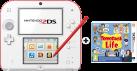 Nintendo 2DS, weiss/rot + Tomodachi Life, deutsch/französisch