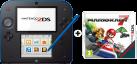 Nintendo 2DS, schwarz/blau + Mario Kart 7, deutsch/französisch