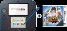 Nintendo 2DS, blau + YO-KAI WATCH, deutsch/französisch