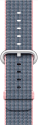 Apple Bracelet en nylon tissé 38 mm, rose pâle/bleu nuit