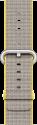 Apple 38 mm Armband aus gewebtem Nylon, Gelb/Hellgrau