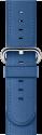 Apple 42 mm Klassisches Lederarmband, Meerblau