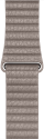 Apple 42 mm Lederarmband mit Schlaufe, Grösse Large, Rauchgrau