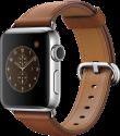 Apple Watch Series 2 - Edelstahlgehäuse mit klassischem Lederarmband - 38 mm - Sattelbraun