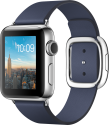 Apple Watch Series 2 - Edelstahlgehäuse mit modernem Lederarmband (Small) - 38 mm - Mitternachtsblau