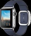 Apple Watch Series 2 - Edelstahlgehäuse mit modernem Lederarmband (Medium) - 38 mm - Mitternachtsblau