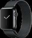 Apple Watch Series 2 - Edelstahlgehäuse, Space Schwarz mit Milanaise Armband - 38 mm - Space Schwarz
