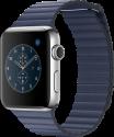 Apple Watch Series 2 - Edelstahlgehäuse mit Lederarmband mit Schlaufe (Medium) - 42 mm - Mitternachtsblau