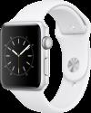 Apple Watch Series 2 - Boîtier en aluminium argent avec Bracelet Sport - 42 mm - blanc