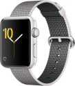 Apple Watch Series 2 - Aluminiumgehäuse, Silber mit Armband aus gewebtem Nylon - 42 mm - Perlgrau