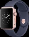 Apple Watch Series 2 - Boîtier en aluminium or rose avec Bracelet Sport - 42 mm - bleu nuit