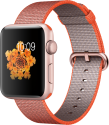 Apple Watch Series 2 - Aluminiumgehäuse, Roségold mit Armband aus gewebtem Nylon - 42 mm - Space Orange/Anthrazit