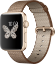 Apple Watch Series 2 - Aluminiumgehäuse, Gold mit Armband aus gewebtem Nylon - 42 mm - Kaffee/Karamell