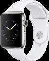 Apple Watch Series 2 - Edelstahlgehäuse mit Sportarmband - 42 mm - Weiss