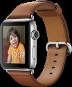 Apple Watch Series 2 - Edelstahlgehäuse mit klassischem Lederarmband - 42 mm - Sattelbraun