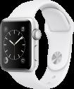 Apple Watch Series 2 - Boîtier en aluminium argent avec Bracelet Sport - 38 mm - blanc