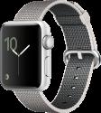 Apple Watch Series 2 - Aluminiumgehäuse, Silber mit Armband aus gewebtem Nylon - 38 mm - Perlgrau
