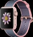 Apple Watch Series 2 - Boîtier en aluminium or rose avec Bracelet en nylon tissé - 38 mm - rose pâle/bleu nuit