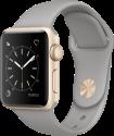Apple Watch Series 2 - Boîtier en aluminium or avec Bracelet en nylon tissé - 38 mm - gris ciment
