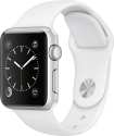 Apple Watch Series 1 - Boîtier en aluminium argent avec Bracelet Sport - 38 mm - blanc