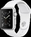 Apple Watch Series 1 - Aluminiumgehäuse, Silber mit Sportarmband - 38 mm - Weiss