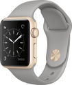 Apple Watch Series 1 - Cassa in alluminio color oro con cinturino Sport - 38 mm - grigio cemento
