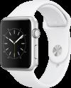 Apple Watch Series 1 - Boîtier en aluminium argent avec Bracelet Sport - 42 mm - blanc