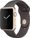 Apple Watch Series 1 - Aluminiumgehäuse, Gold mit Sportarmband - 42 mm - Kakao