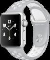 Apple Watch Nike+ - Boîtier en aluminium argent avec Bracelet Sport Nike - 38 mm - argent pâle/blanc