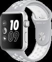 Apple Watch Nike+ - Boîtier en aluminium argent avec Bracelet Sport Nike - 42 mm - argent pâle/blanc