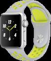 Apple Watch Nike+ - Boîtier en aluminium argent avec Bracelet Sport Nike - 38 mm - argent pâle/Volt