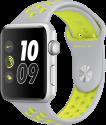 Apple Watch Nike+ - Boîtier en aluminium argent avec Bracelet Sport Nike - 42 mm - argent pâle/Volt