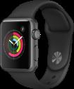 Apple Watch Series 1 - Boîtier en aluminium gris sidéral avec Bracelet Sport - 38 mm - noir