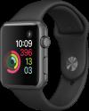 Apple Watch Series 1 - Boîtier en aluminium gris sidéral avec Bracelet Sport - 42 mm - noir