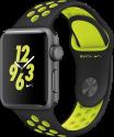 Apple Watch Nike+ - Boîtier en aluminium gris sidéral avec Bracelet Sport Nike - 38 mm - noir/Volt